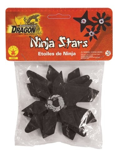 Rubber Ninja Stars Costume Accessory