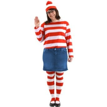 Wheres Waldo Wenda Adult Plus Costume